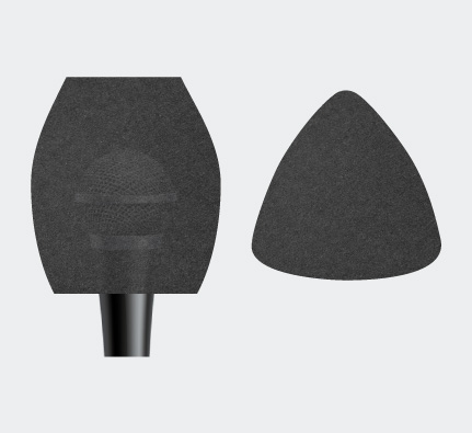 Triangle Microphone Sponge
