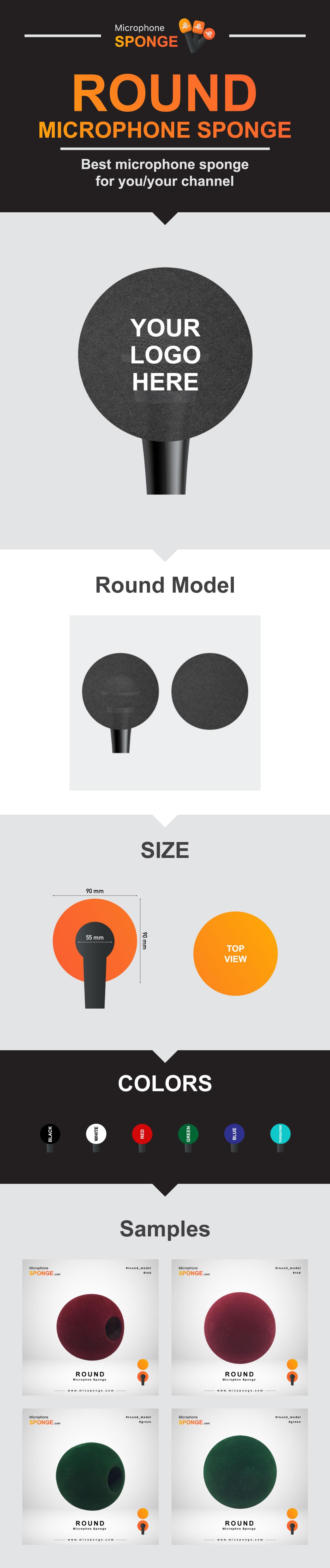 Microphone Sponge Round