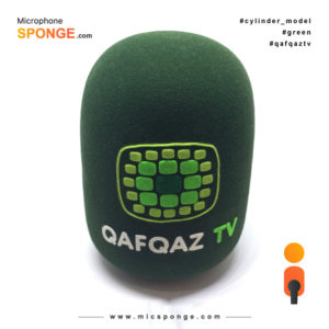 Microphone sponge with Qafqaz TV Logo on Mic cover
