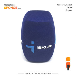 Microphone sponge with işkur Logo on Mic cover