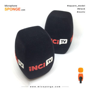 Microphone sponge with iNCi tv Logo on Mic cover